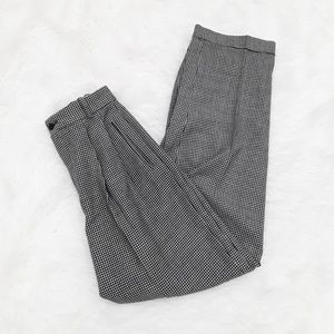 VINTAGE High Waisted Houndstooth Pattern pants 4